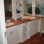 Badkamer meubel met alicante marmer blad en vloer