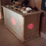 Rozekwarts oven in sauna
